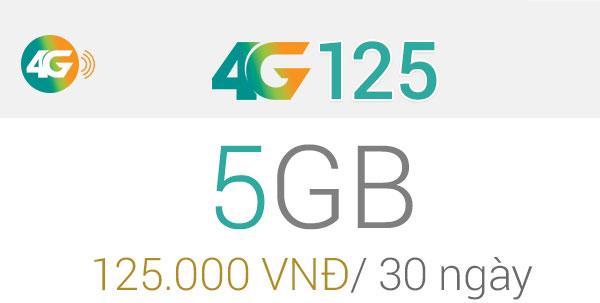 gói cước 4G125 Viettel